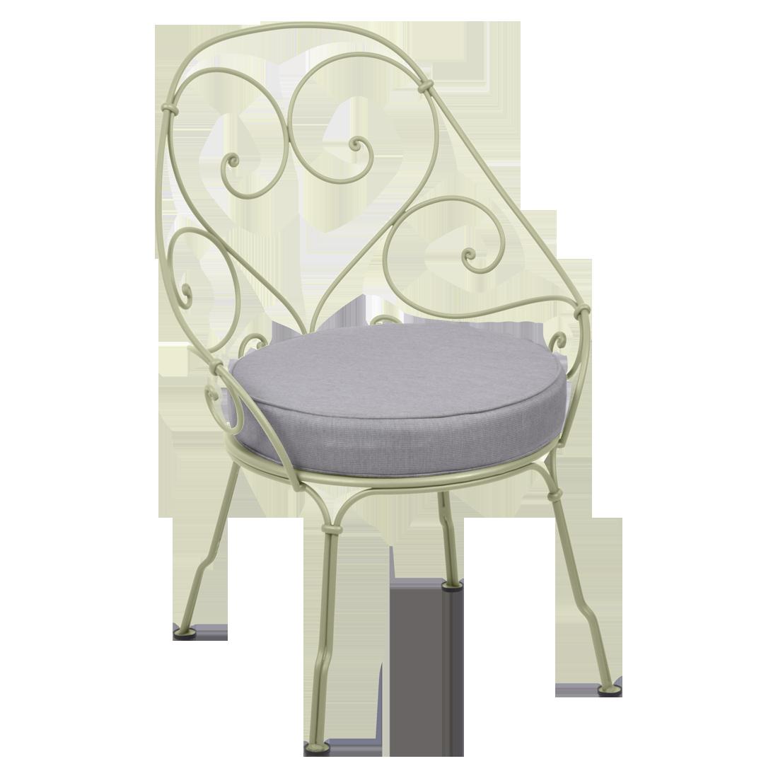 fauteuil de jardin, fauteuil volute, fauteuil fermob, fauteuil vert