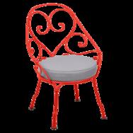 fauteuil de jardin, fauteuil volute, fauteuil fermob, fauteuil rose
