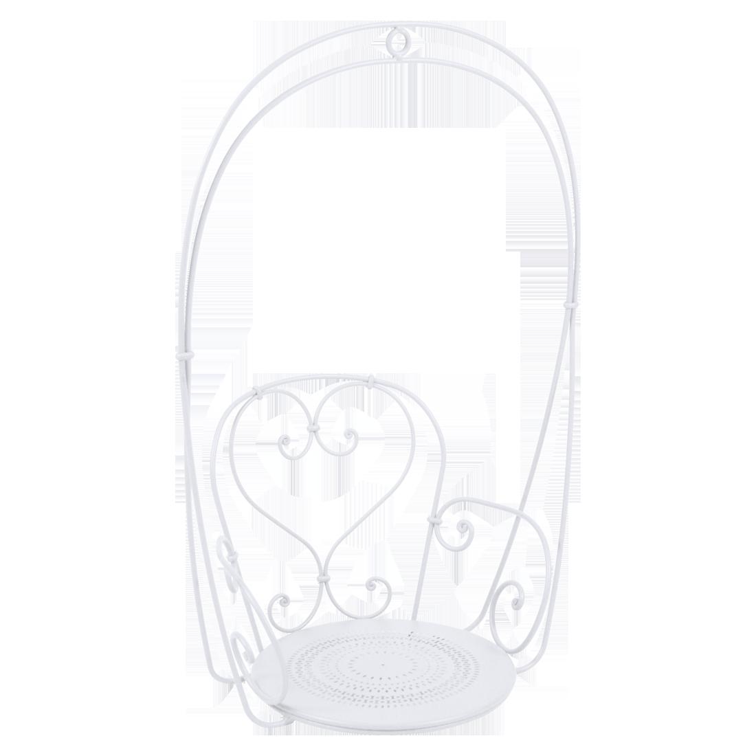 fauteuil suspendu, balancelle, fauteuil dans les arbres, fauteuil suspendu metal blanc
