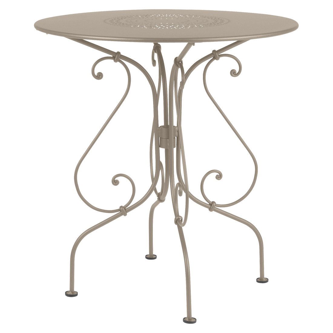 1900 Pedestal Table, Round Metal Table, Garden Table For 2