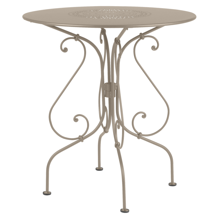 Round Outdoor Metal Table In 67 Cm Round Table 1900 Pedestal Table Round Metal Garden Table For