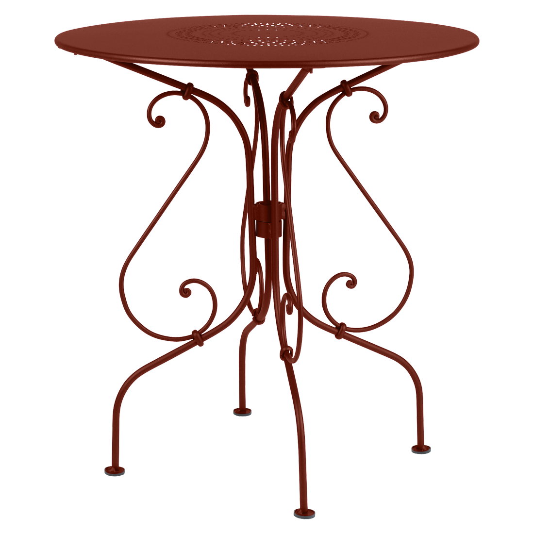 Guéridon Ø 67 cm 1900 ocre rouge