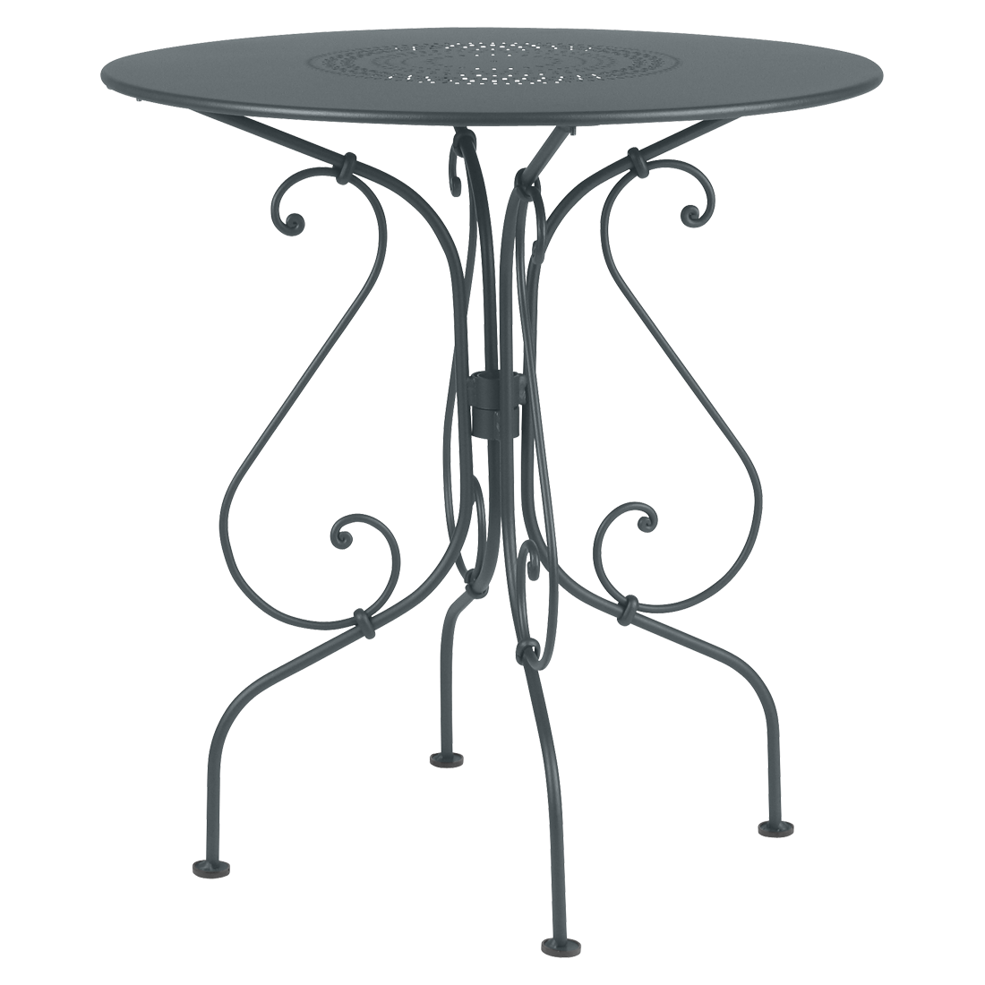 1900 Pedestal Table Round Metal Table Garden Table For 2