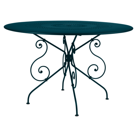 Table Ø 117 cm 1900 bleu acapulco