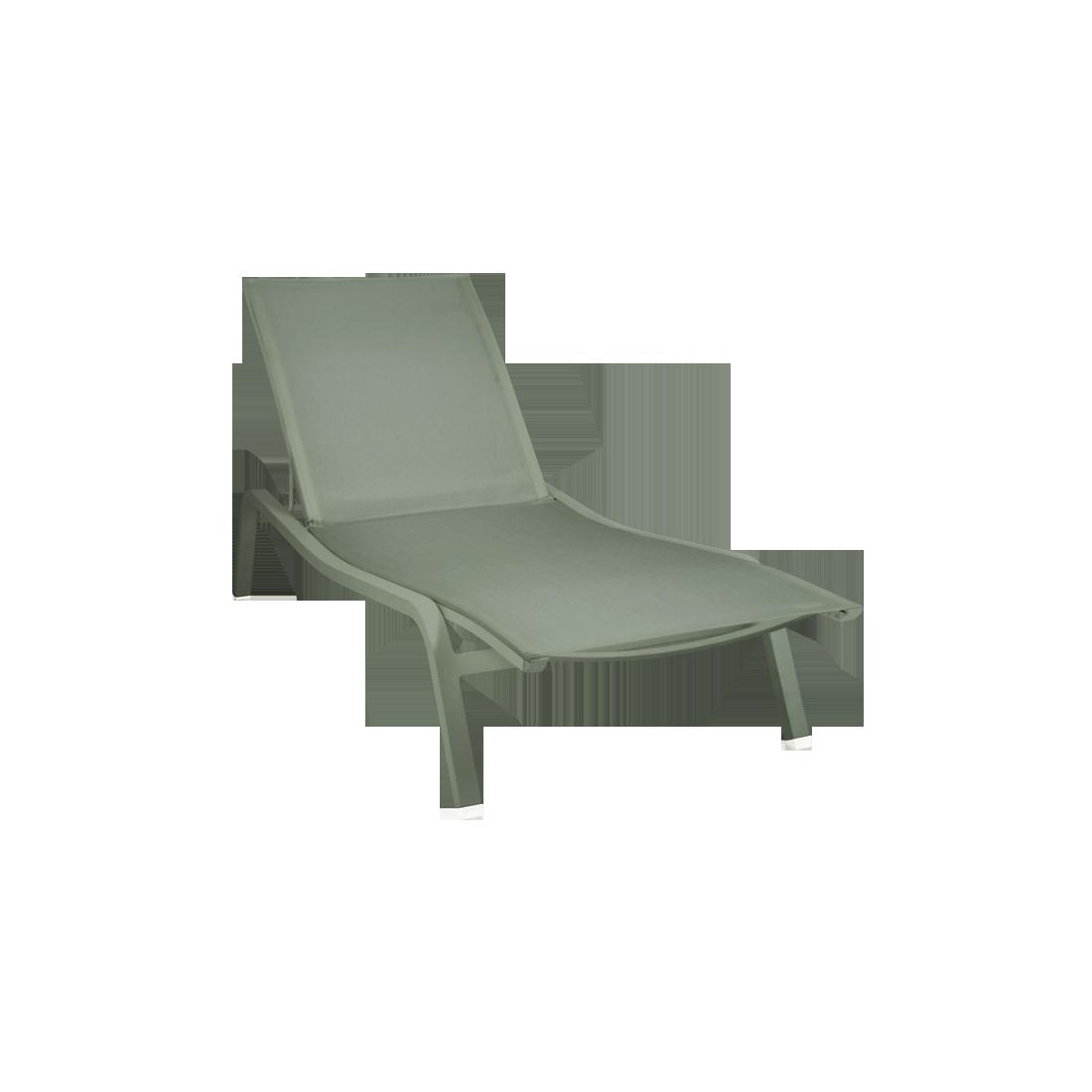 bain de soleil fermob, bain de soleil, chaise longue en toile, chaise longue fermob, chaise longue vert