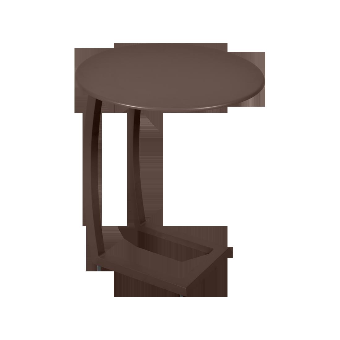 table basse chaise longue marron, table basse aluminium, table basse bain de soleil