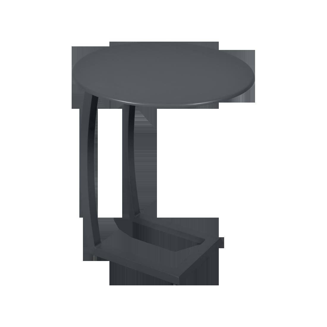 table basse chaise longue noir, table basse aluminium, table basse bain de soleil