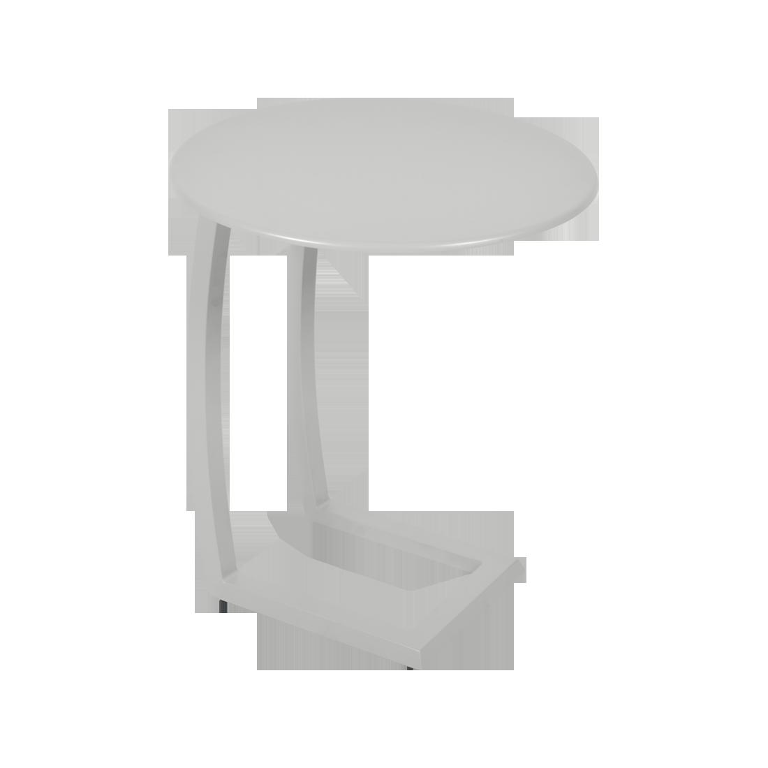 table basse chaise longue gris, table basse aluminium, table basse bain de soleil