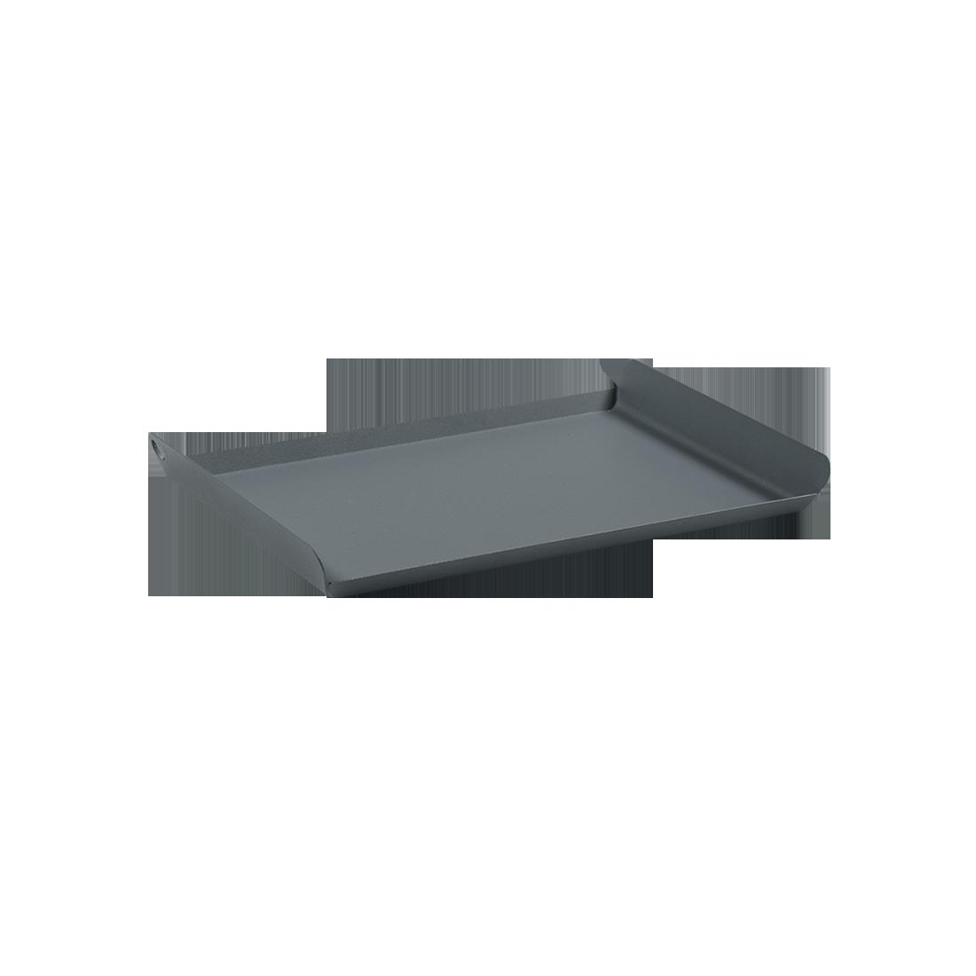 Plateau Alto gris, plateau metal, plateau de service
