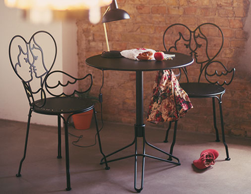 chaise metal Ange, chaise castelbajac, chaise design, chaise metal