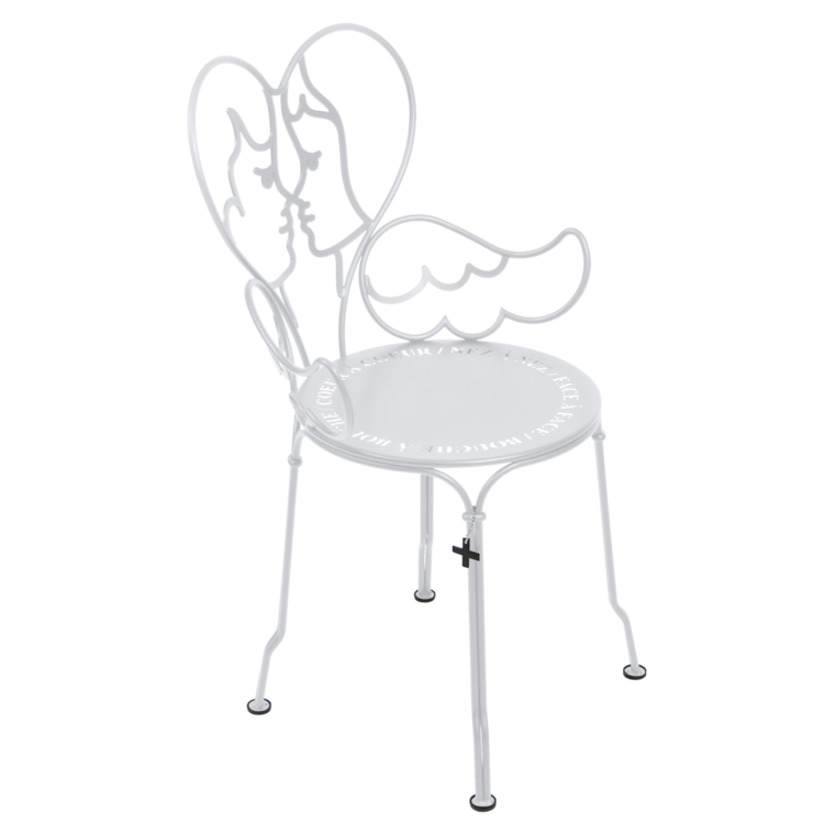 chaise design, chaise castelbajac, chaise metal design, chaise design blanche