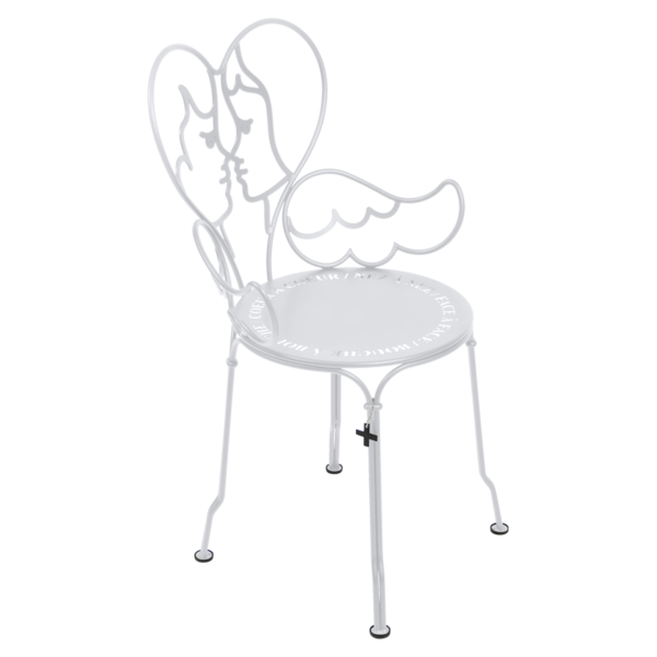 Chaise Design Castelbajac Metal Blanche