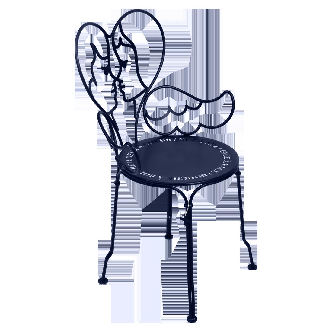 chaise design, chaise castelbajac, chaise metal design, chaise design bleu