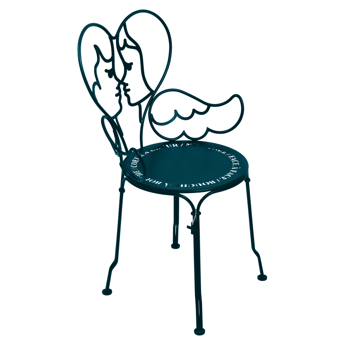 Chaise ange bleu acapulco