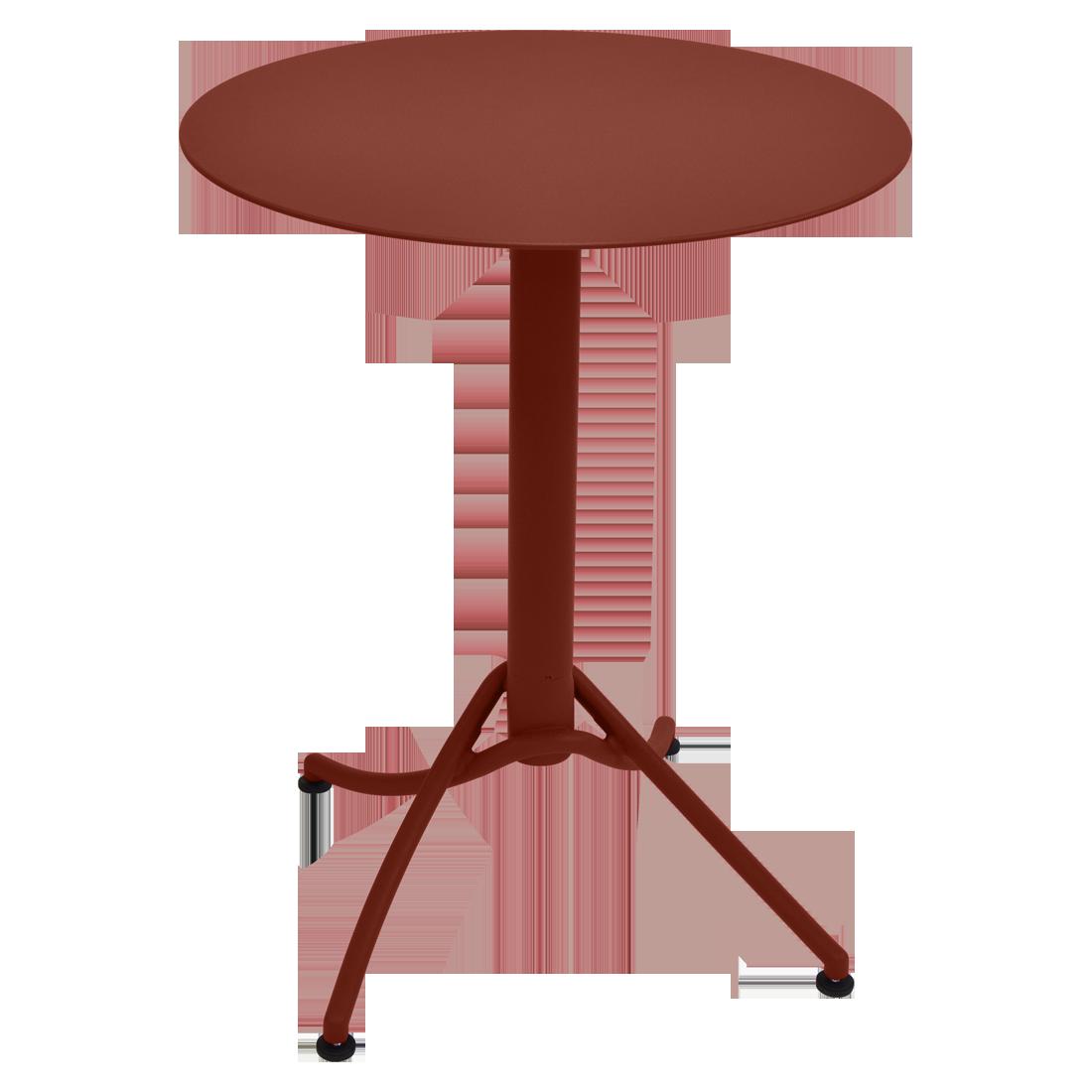 Table Ø 60 cm monochrome ariane ocre rouge