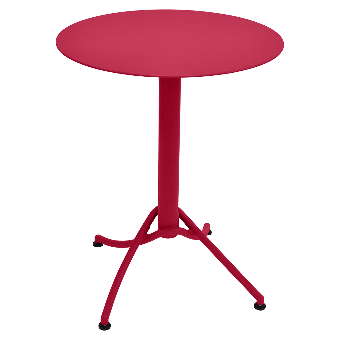 table ronde terrasse restaurant, table terrasse rose