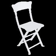 chaise metal pliante blanc