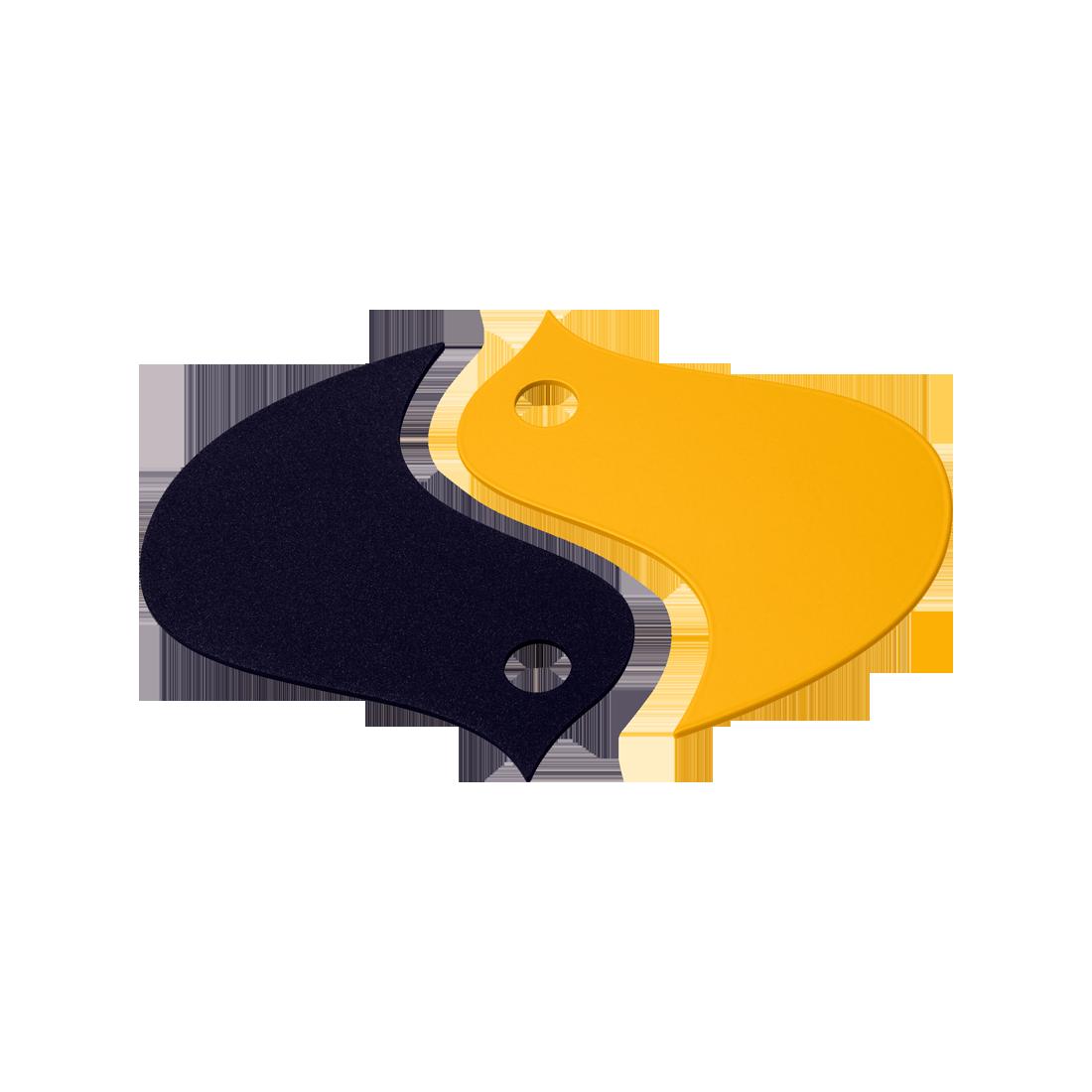 deco de table jaune, dessous de plat original, dessous de plat design