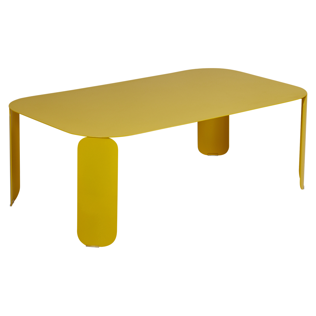 table basse metal, table basse fermob, table basse design, table basse jaune