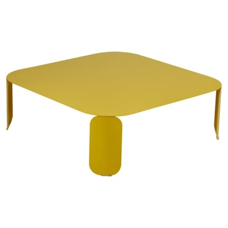 table basse metal, table basse design, table basse fermob, table basse lohner, table basse jaune
