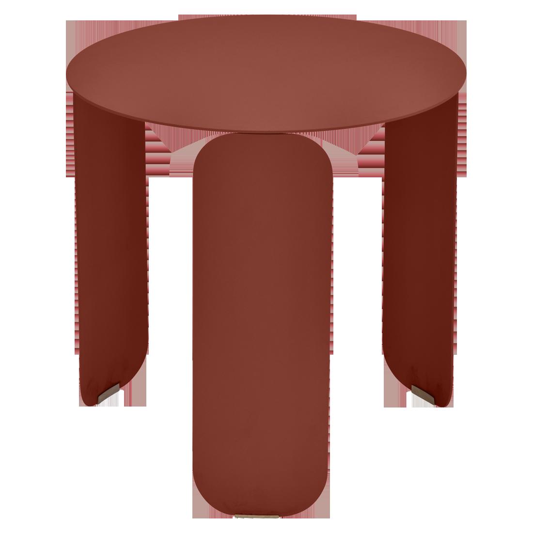 Table basse Ø 45 cm bebop ocre rouge