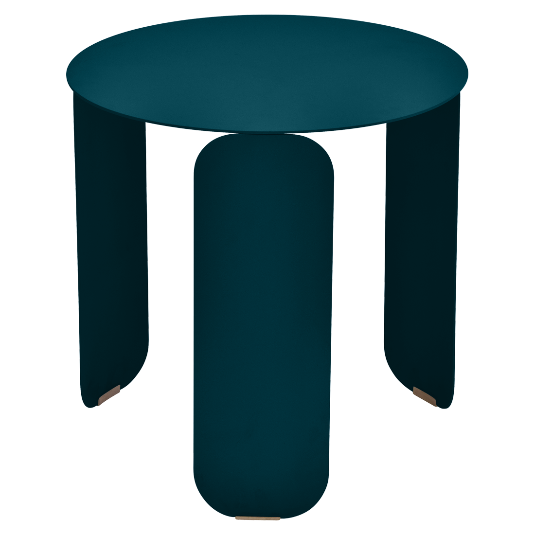 Table basse Ø 45 cm bebop bleu acapulco