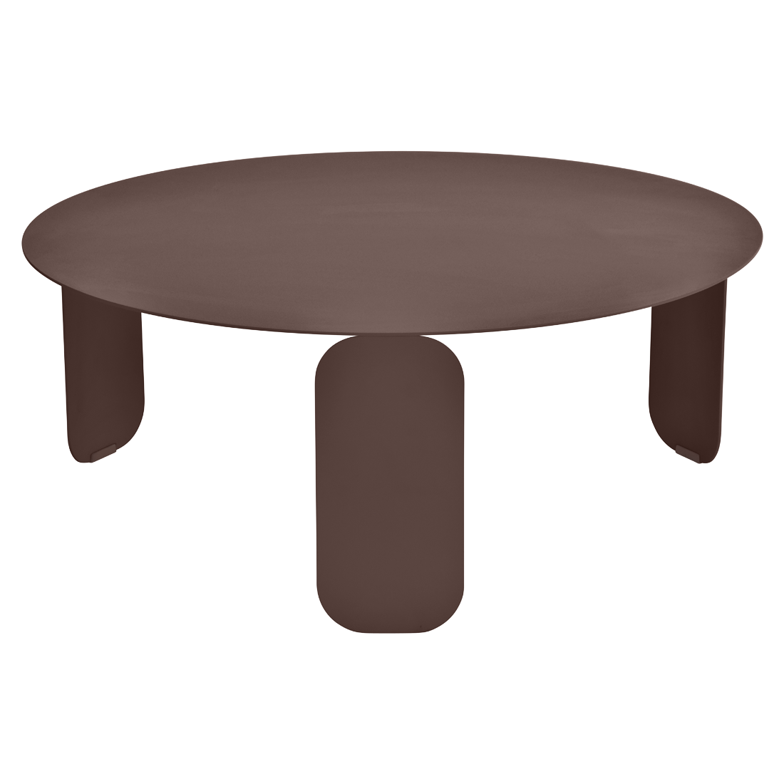table basse metal, table basse design, table basse fermob, table basse marron