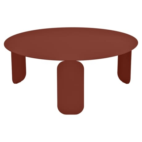 Table basse Ø 80 cm bebop ocre rouge