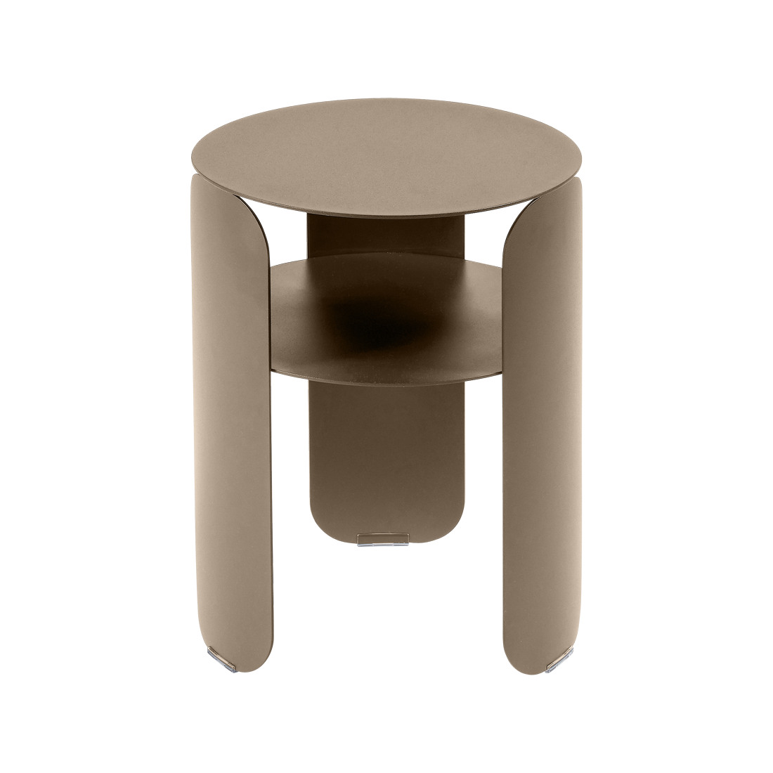 table d'appoint en metal, table de chevet metal, table d appoint bebop, table chevet fermob, petite table basse beige