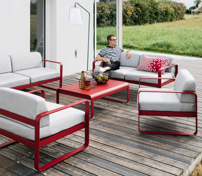 salon de jardin, mobilier de jardin, collection bellevie, fermob