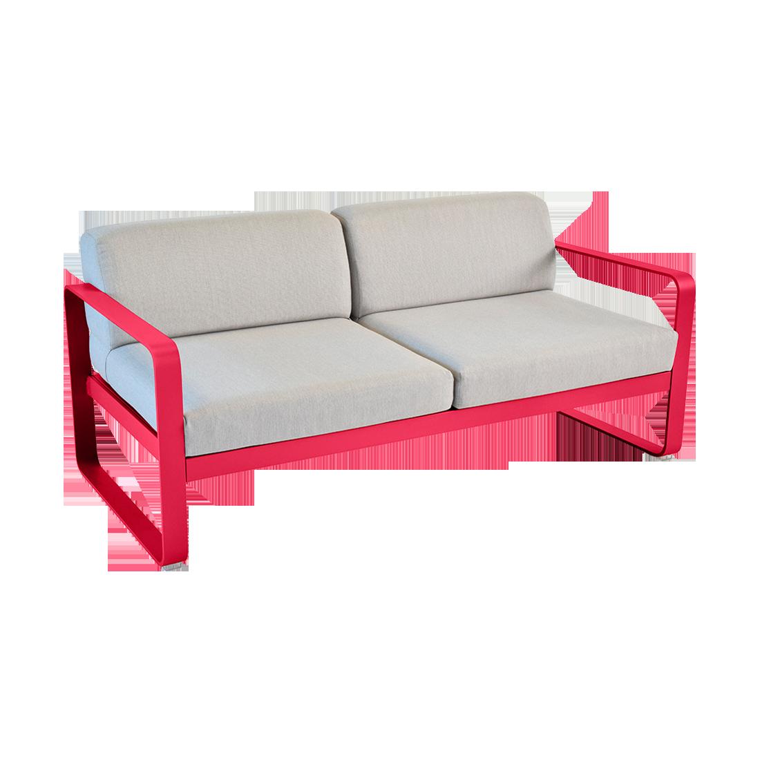 canapé de jardin avec coussin d'extérieur, canapé fermob, canapé rose