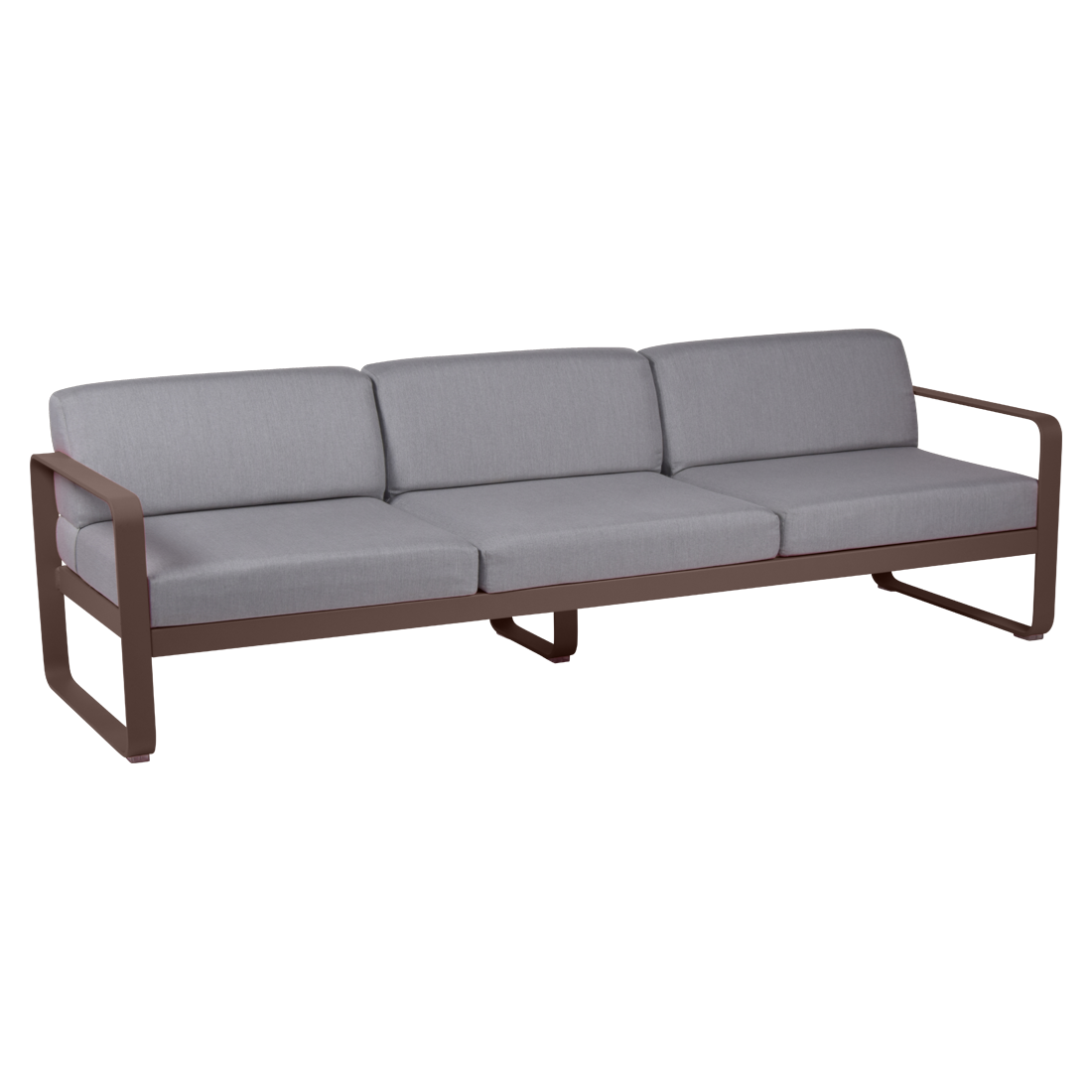 canape de jardin, canape d exterieur, canape fermob, canape metal, canape marron