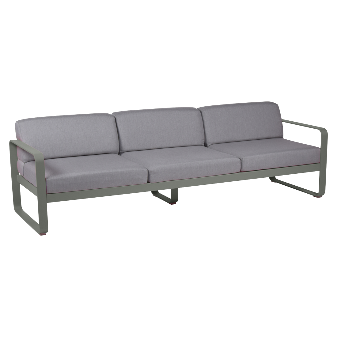 Bellevie 3 Seater Sofa With Flannel Grey Cushions Garden Sofa - Sofas-jardin