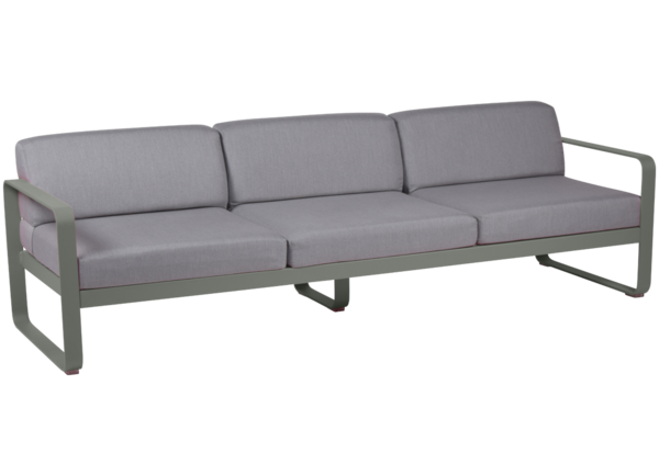 Bellevie 3 Seater Sofa With Flannel Grey Cushions Garden Sofa Fermob