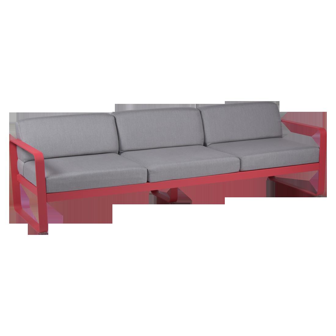 canap 3 places bellevie coussins gris flannelle salon de jardin fermob. Black Bedroom Furniture Sets. Home Design Ideas