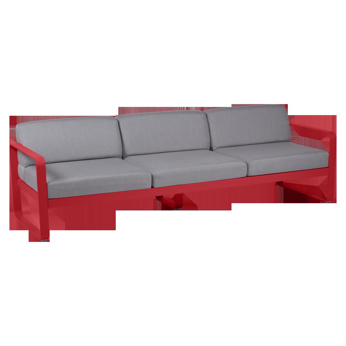 canape de jardin, canape d exterieur, canape fermob, canape metal, canape rouge