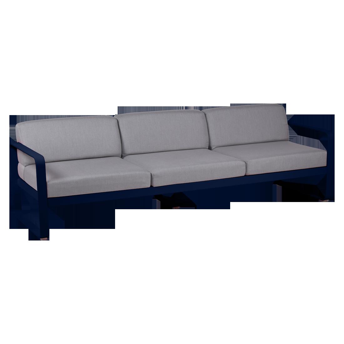 canape de jardin, canape d exterieur, canape fermob, canape metal, canape bleu nuit