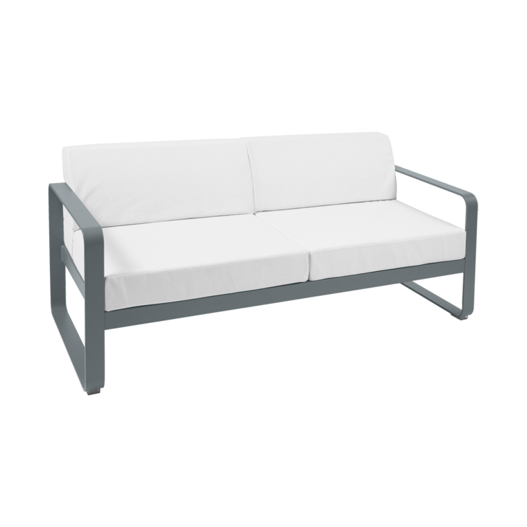Bellevie 2-seater Sofa with Off-white cushions, garden sofa for ...