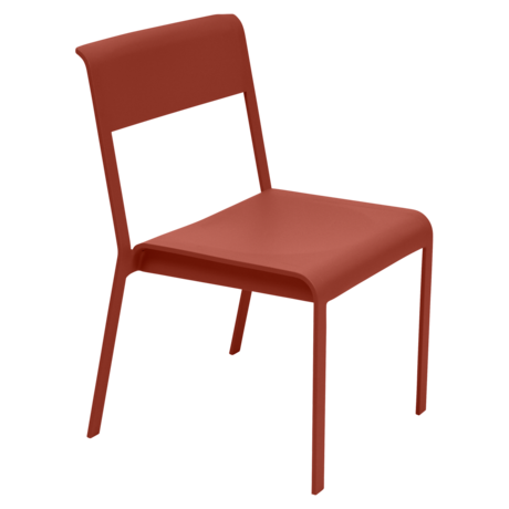 Chaise bellevie ocre rouge