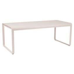table de jardin, table metal beige, table fermob, table rectangulaire metal