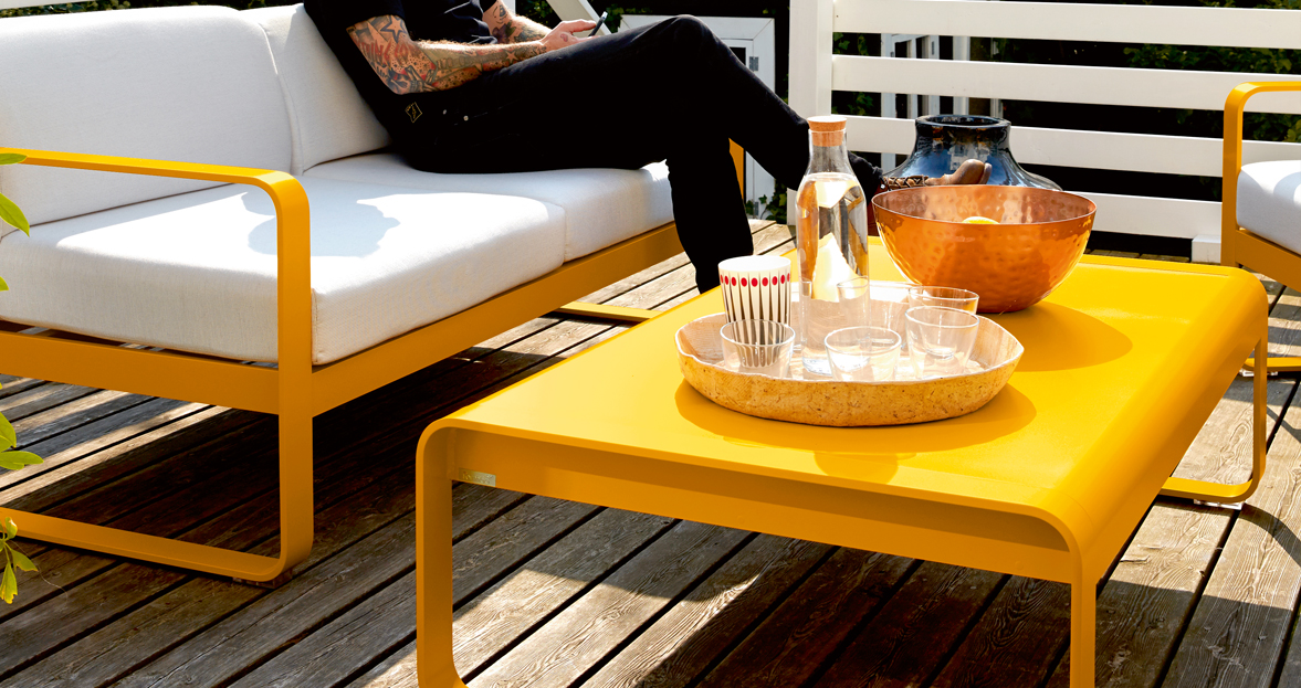 Bellevie Low Table Metal Low Table For Outdoor Living Space
