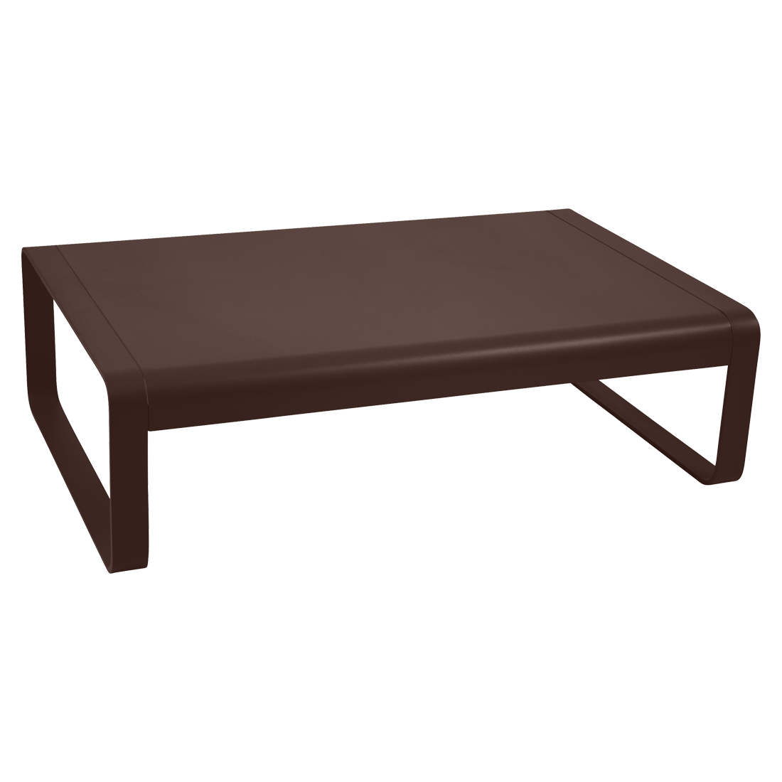 table basse metal, table basse de jardin, table basse marron