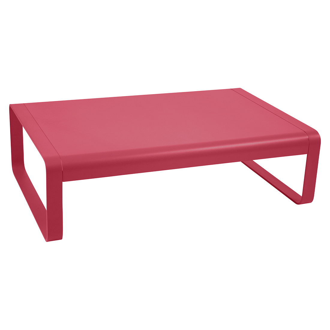 table basse metal, table basse de jardin, table basse rose