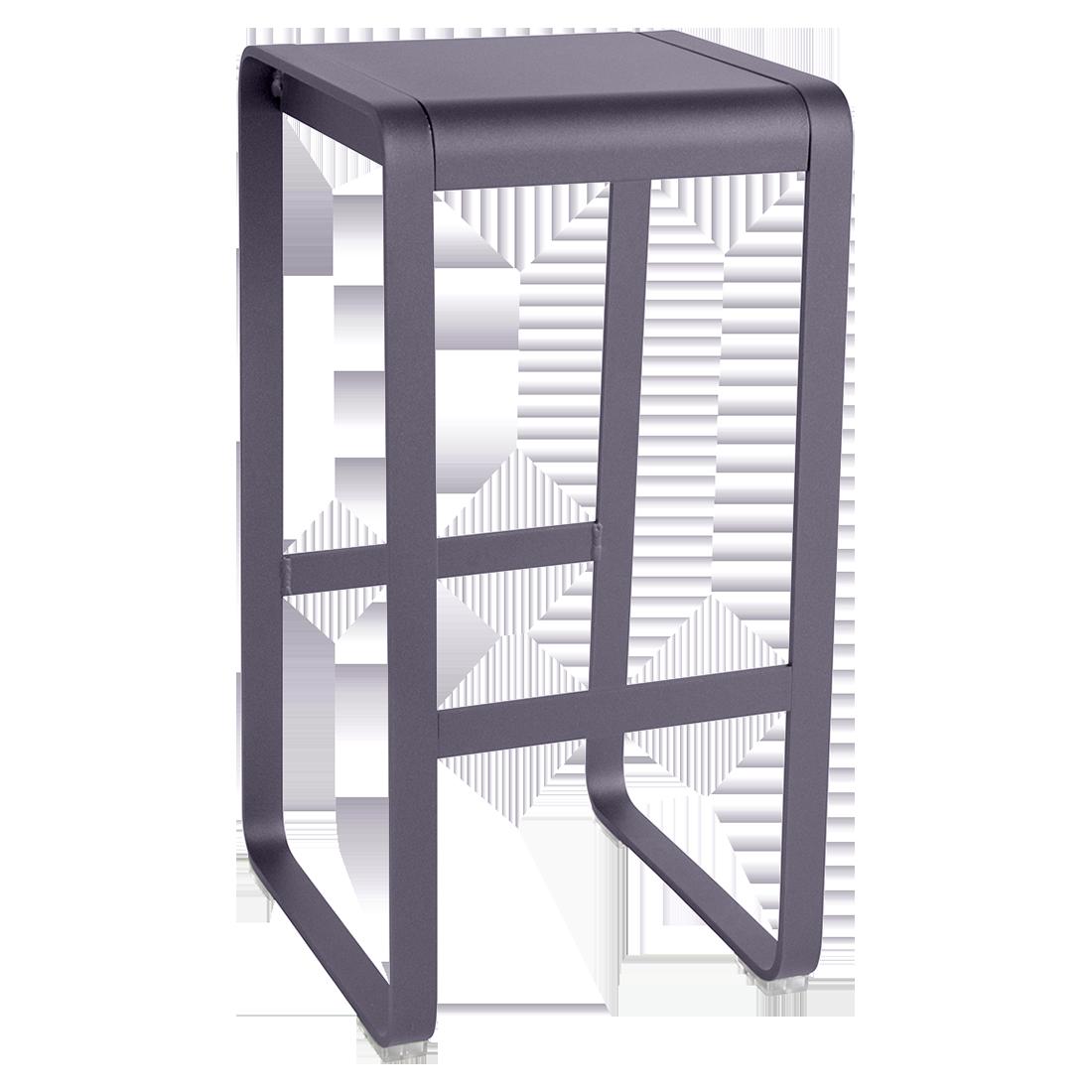 tabouret haut industriel, tabouret haut metal, tabouret de bar en metal, tabouret de bar violet