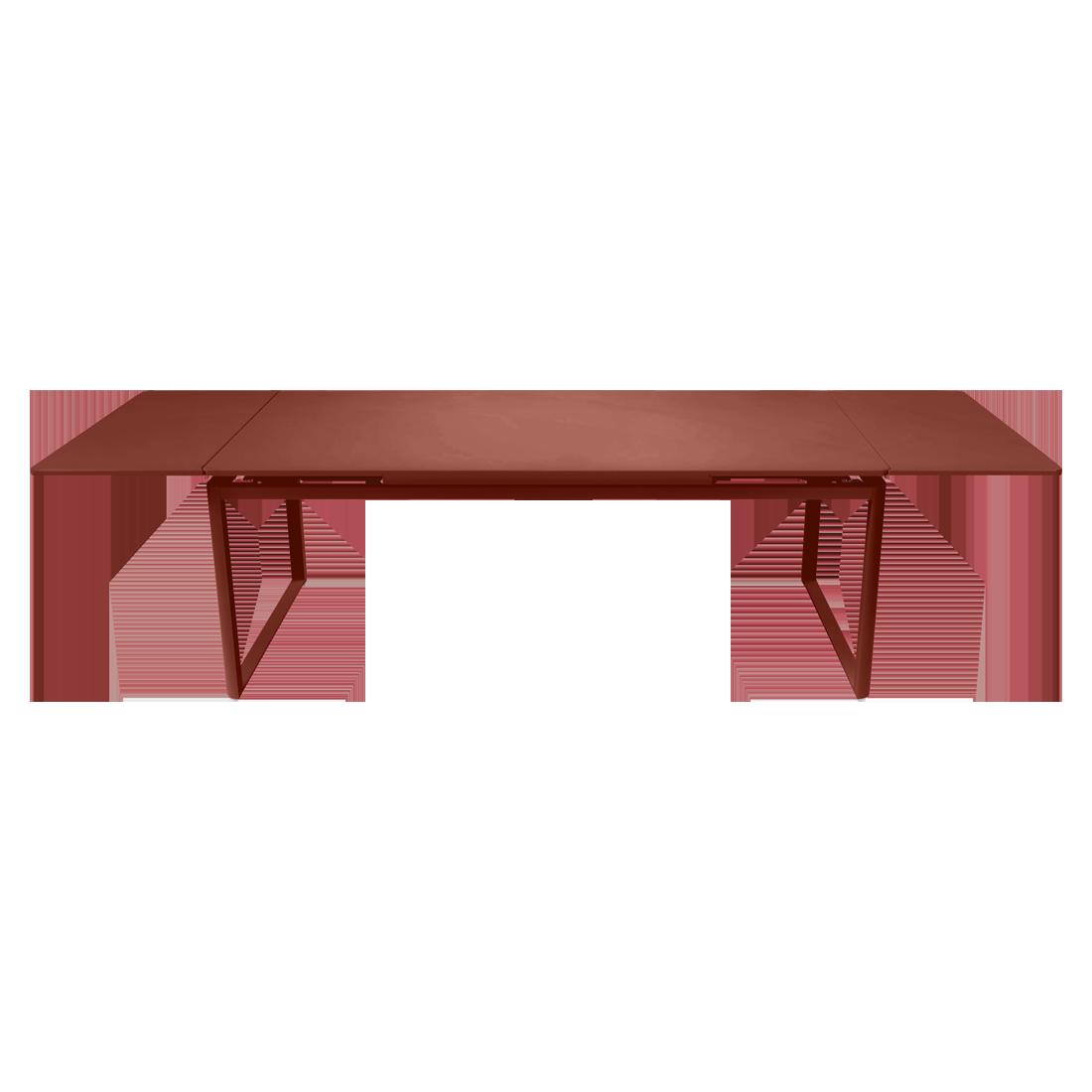 Table à allonges 200/300 x 100 cm ocre rouge