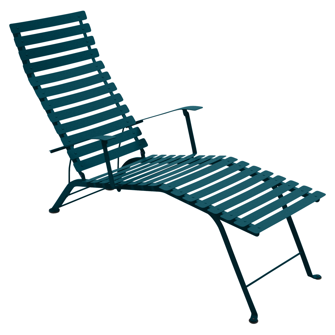 Chaise longue bistro bleu acapulco