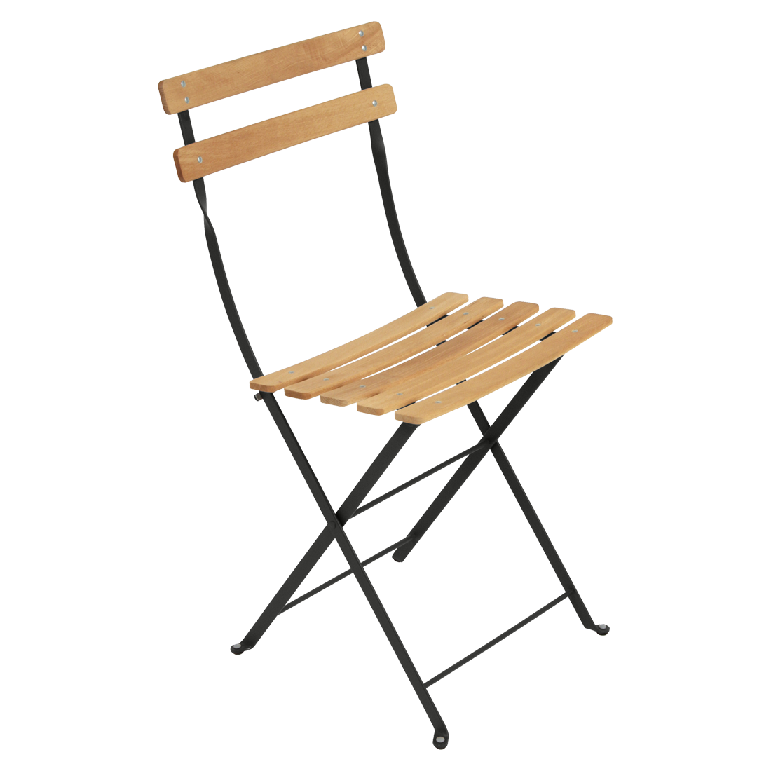 Bistro Naturel Chair, Metal And Wood Chair, Outdoor Furniture