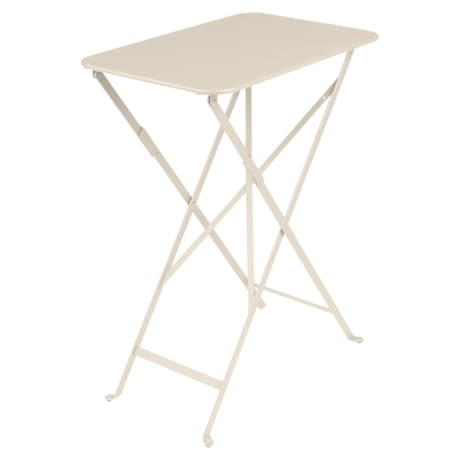 petite table metal, table 2 personnes, table metal beige, petite table fermob