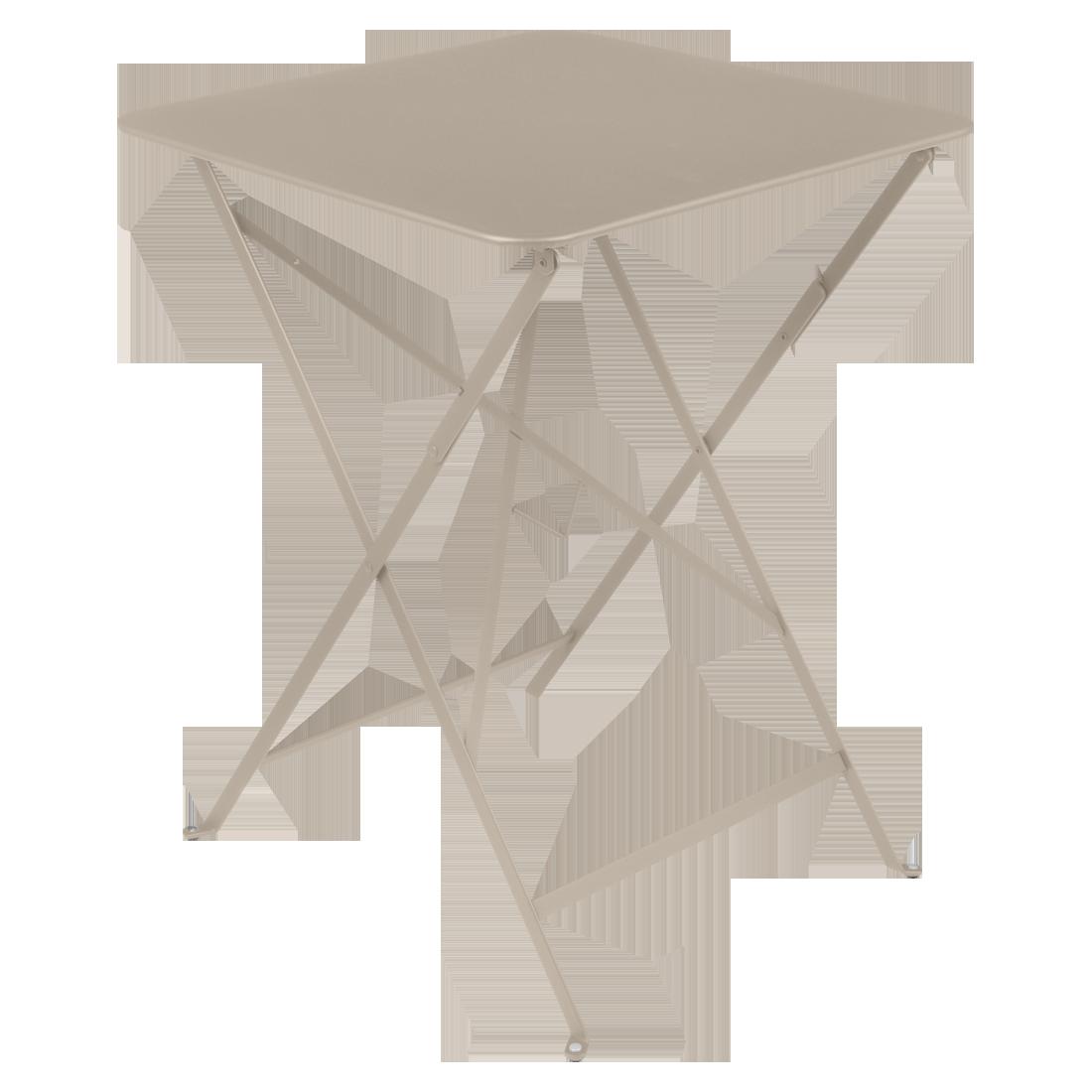 petite table metal, table fermob, table beige
