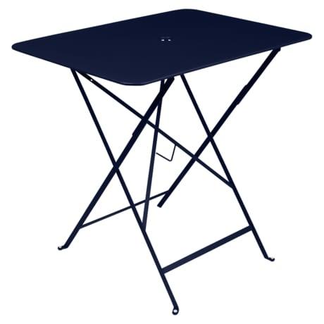 table pliante, table metal, table bleu, table fermob, table bistro